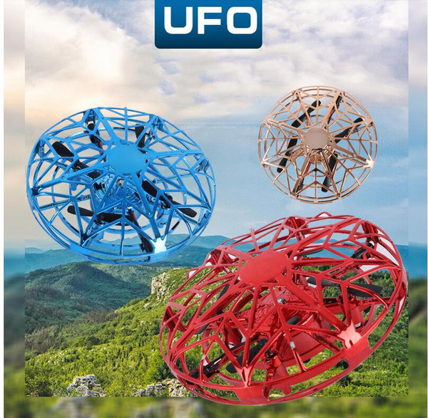 top popular Mini Helicopter UFO RC Drone Infraed Hand Sensing Aircraft Electronic Model Quadcopter flayaball Small drohne Toys For Children 2020