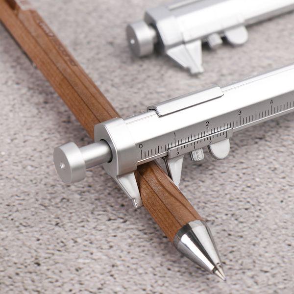 best selling 1 PC Multi-function 0.5mm Ballpoint Pen Vernier Caliber Roller Pen Measuring Tool Scale Ruler Pen Writing Instrument Stationery