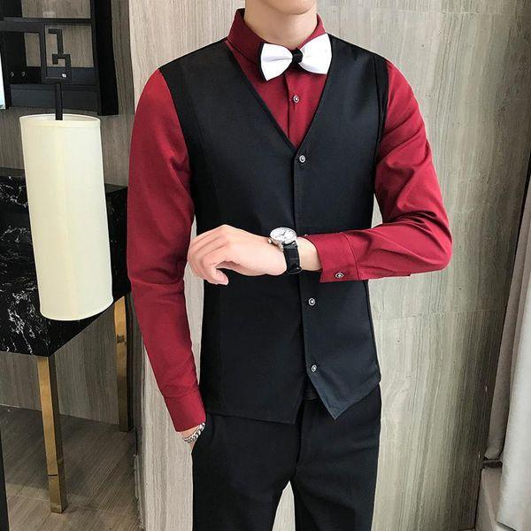 Camisa roja vino hombres