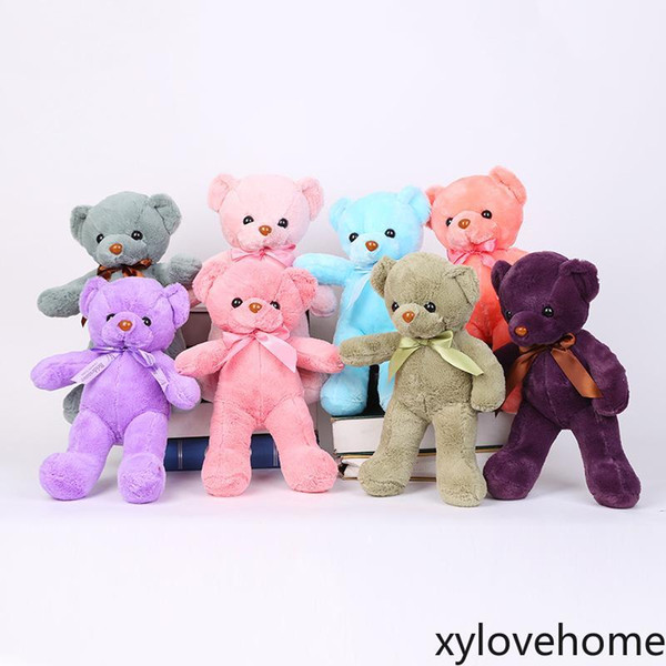 top popular Hot Sale Lovely Teddy Bear Plush Toy Stuffed For Kids Adult Party Birthday Gift Valentines Favor Holiday Gifts 25CM Novelty Items Home Decor 2021