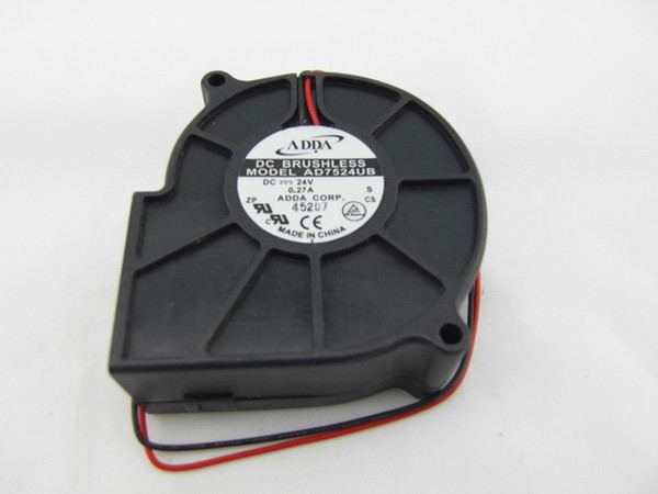 top popular For ADDA AD7524UB 7530 7CM DC 24V 0.27A projector blower cooling fan 2021