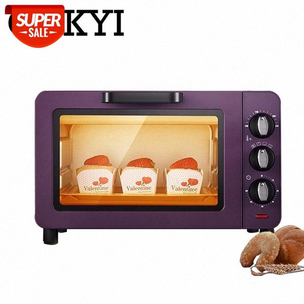 top popular CUKYI Mini Household Ovens 15L Capacity Multi-functional baking machine electric oven Baking Timer 60min pizza bread toaster EU #eh6L 2021