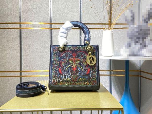 Womens shoulder bags handbag women brand designer handbags high-end quality flower printing crossbody bag purse free ship bk122806