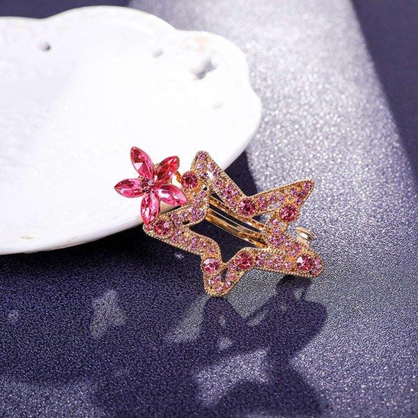 星星 发夹 6 公分 粉色