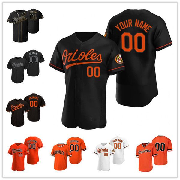 top popular Custom Men womens youthBaltimoreOrioles White yellow black Authentic Home Jersey 2021