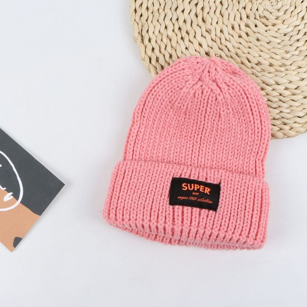 Tapa de lana de etiqueta súper de tela - rosa