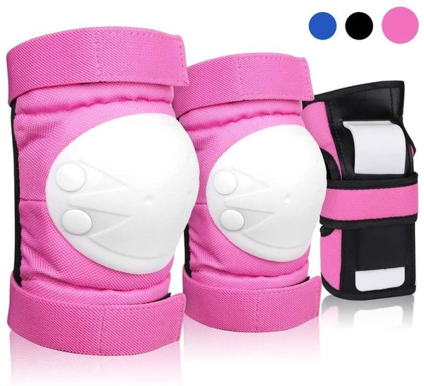 best selling DEKINMAX Knee Pads for Kids & Adult Youth Protective Gear Set, Knee Pads Elbow Pads with Wrist Guards 3 in 1 for Biking, Skating, and