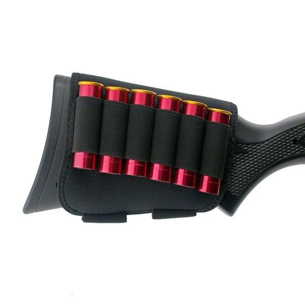 best selling Buttstock Tactical Cheek Bag Rest with 6 Shots 12 20 Gauge Shotgun Shell Hold e r