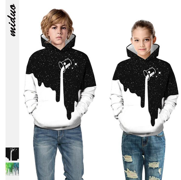 best selling Kids Hoodie Spring and Autumn Sportswear Designer Boy Clothes Pullover Designer Girl Clothes Star Milk Cup 3D Printing