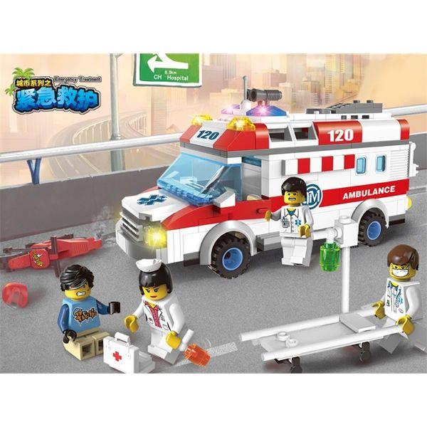 top popular Enlightenment building blocks children toys plastic assembling model boy educational toys city series emergency rescue 2020
