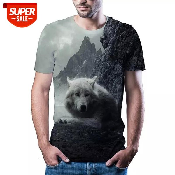 best selling The latest hot wolf head T-shirt in 2020, casual sports, men's and women's T-shirt, Asian size code, color printing, 3DT shirt #q260
