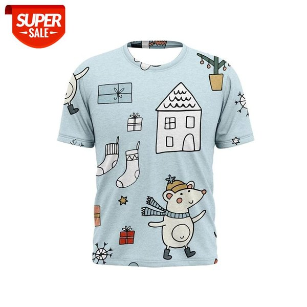 best selling 2021 new 3D printed men's t-shirts Christmas cartoon pattern holiday fashion t-shirts for boys and girls #Hs2E