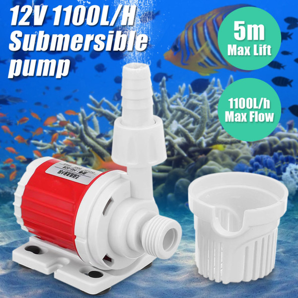 top popular 20W DC 12V Ultra-Quiet Submersible Water Pump Filter 1100L H Fish Pond Aquarium Water Fountain Pump Tank Fish Pond Water Pump Y200917 2021