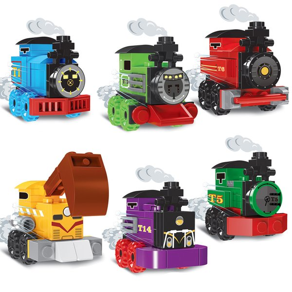 best selling Locomotive building blocks twist eggs Building block Compatible with ing Assembl DIY Educating Children Toys Christmas Gifts