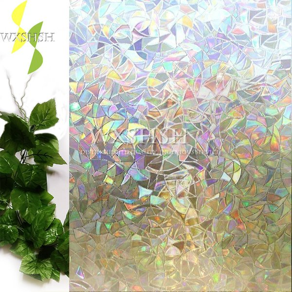 best selling 3D frosted color pattern decorative window film.static self-adhesive glass films,stained window foil,heat insulation stickers Y200421
