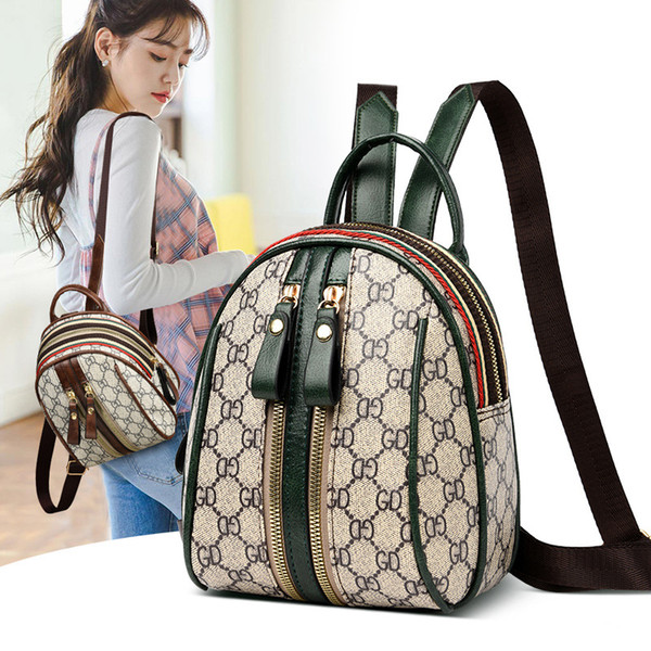 top popular Womens Shoulder Bag Mini Backpack Fashion Western Style schoolbag Summer Students 2021