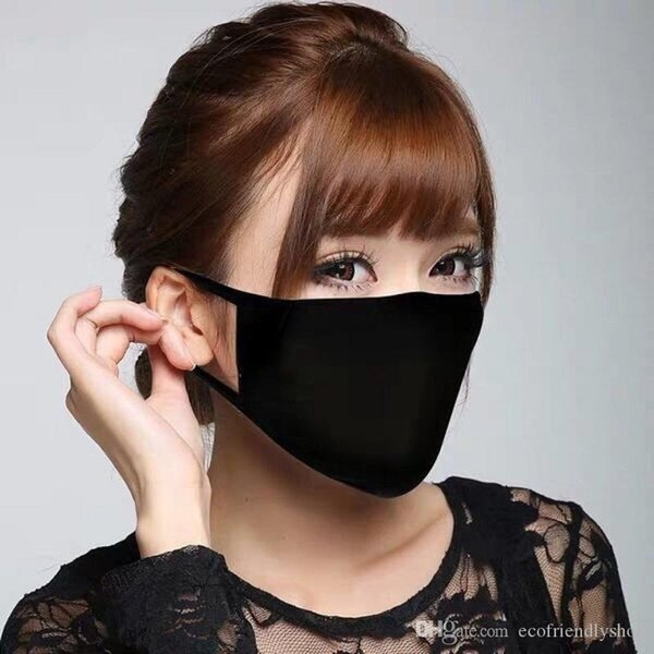 Modell Cotton Maske Schwarz