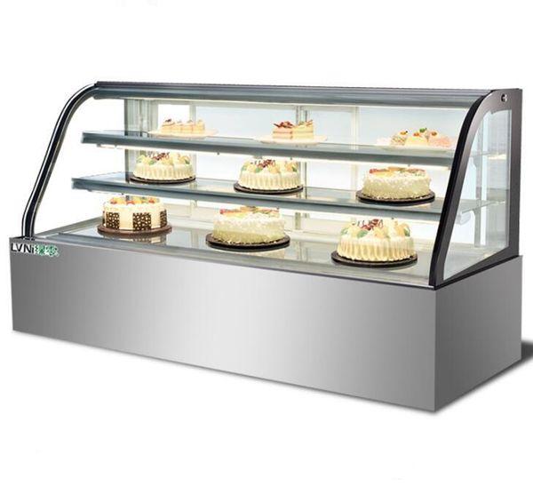best selling Cake Cabinet Refrigerator Display Case Commercial Fruit Deli Dessert Stainless Steel Air Cool Freezer Preservation Cabinet