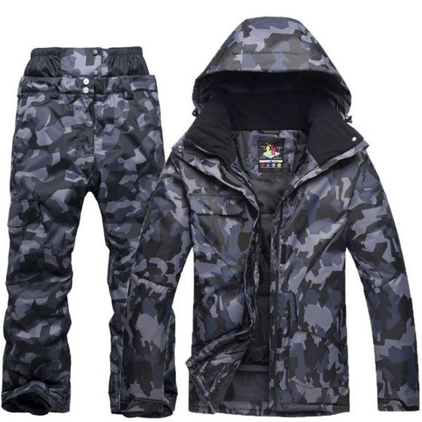 best selling New Mens Camouflage Ski Suit Waterproof Breathable Snowboard Jacket Winter Snow Pants Suits Male Skiing and Snowboarding Sets