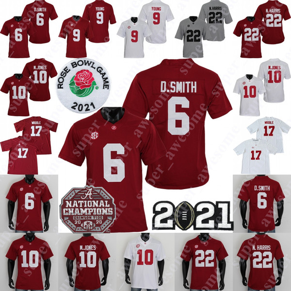 top popular NCAA Alabama Crimson Tide Football Jersey 9 Bryce Young Tua Tagovailoa Jerry Jeudy Najee Harris Jaylen Waddle Mac Jones DeVonta Smith 2021
