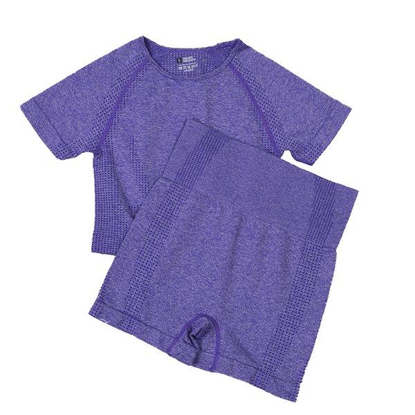 Pantaloncini corti viola