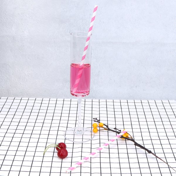 best selling Wedding 25Pcs for Disposable Birthday Straw Drinking Paper Straws Decorative Party Event Supplies