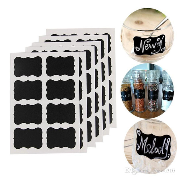 top popular Blackboard Chalk Board Stickers Decals Eco-friendly Removable Labels Kitchen Jars Label Stickers Storage Bottle Container Label DBC VT0308 2021