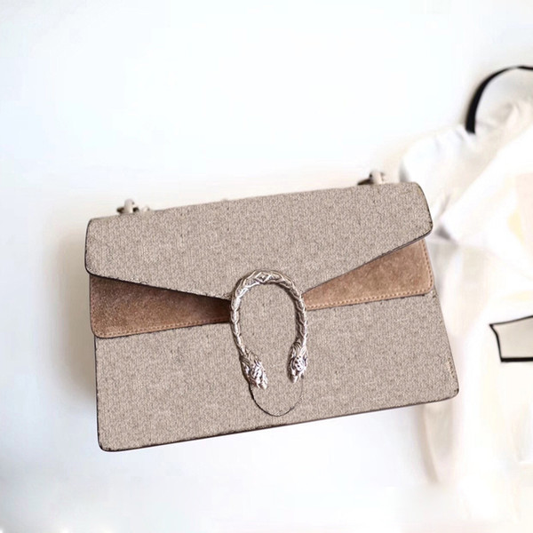 best selling 2020 new fashion high quality ladies dionysuss mini chain canvas genuine leather Tiger Head Closure flap handbag shoulder crossbody bag bags