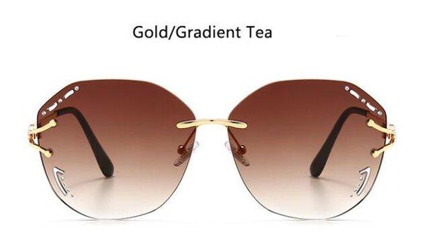Золотой градиентный чай