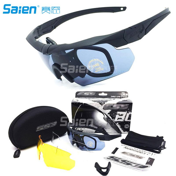 top popular Outdoor Sport Polarized Sunglasses Crossbow Tactical Ballistic Goggles Eyewear Eye Mask Eyeshield Kit 2021