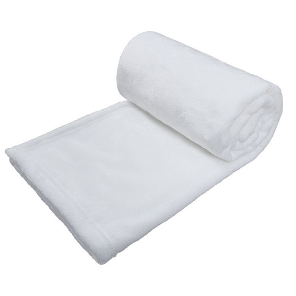 top popular Sublimation Baby Blankets 30*40inch Polyester Blanket Warm Soft Sofa Cover White Blank Thermal Transfer Printing Swaddle Wrap A02 2021