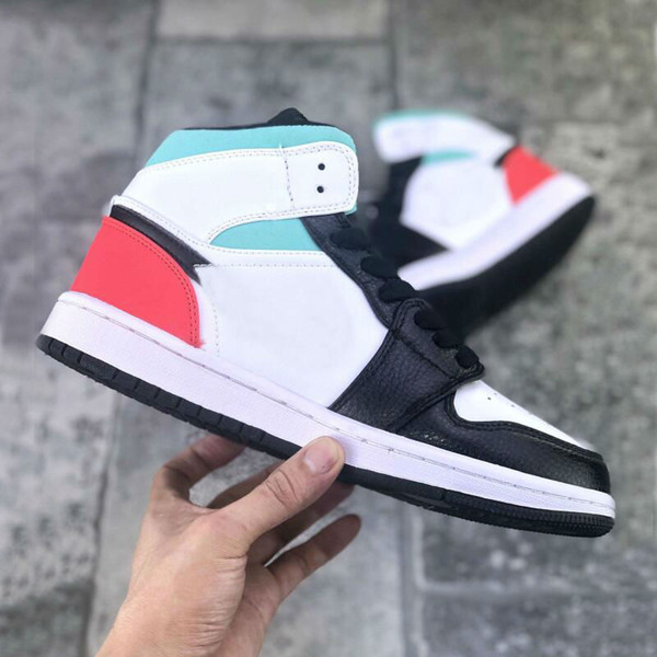 best selling 1 Mid SE RED BLACK TOE Game Royal Basketball Shoes Women 1S outdoor shoe mens Trainers Athletic sneakers us5.5-us11
