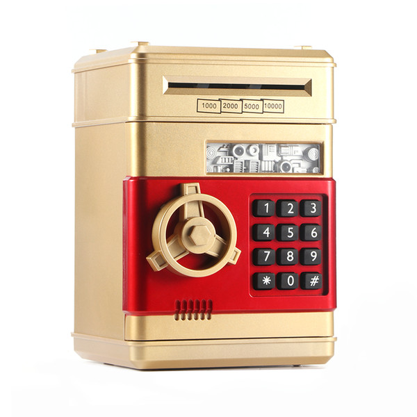 top popular Electronic Piggy Bank ATM Password Money Box Cash Coins Saving ATM Bank Safe Box Auto Scroll Paper Banknote Gift For Kids 2021
