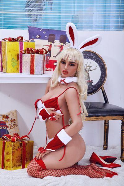 top popular LOMMNY 158cm Christmas male silicone big breasts masturbation vagina female sex toys adult sex toys metal skeleton love doll 2021