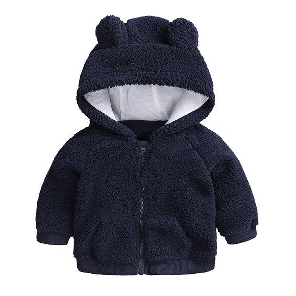 best selling newborn baby clothes Autumn Winter warm Hooded jacket&Coat for 3-18M toddler baby boy girls cartoon bear Outerwear blue green Q1123
