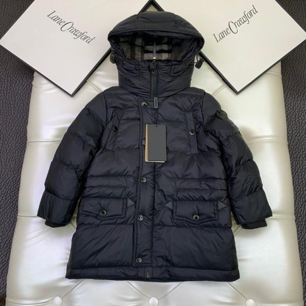 top popular 4 Colors Kids Boys Coat Winter Baby Boys Girls Down Parka Outerwear Children's Thicken Warm Long Jackets Tops 2021