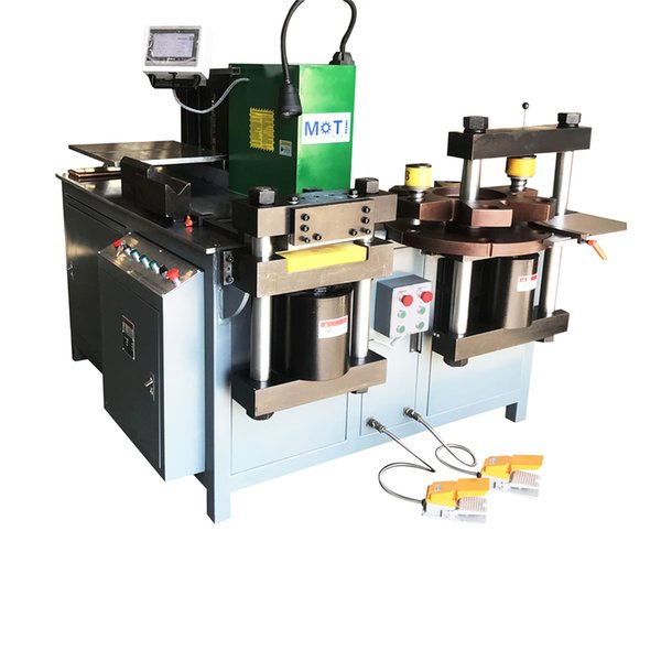 top popular MOTI-30-3NC new green Busbar processing machine with punching bending cutting function for copper plate steel 2020