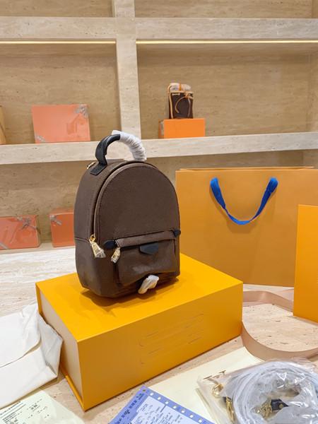 top popular 2020 Mini backpack lady Genuine Leather Backpacks fashion back pack women handbags Presbyopic Mini shoulder bag Handbag Purse Cross body bag 2021