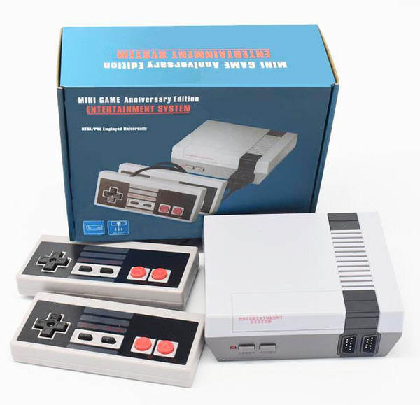 best selling Classic Video Game Console Mini TV Output Handheld AV 4Bit Retro Gaming Player Built-in 620 500 Gift Games With Hadnles For Nes Children Adult Retail Box Packing