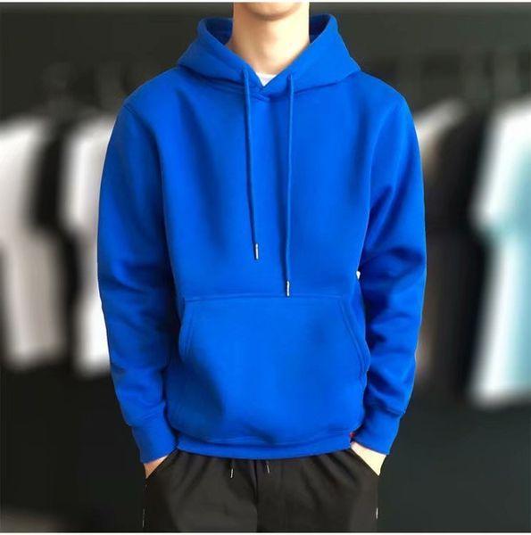Hoodie solide bleu