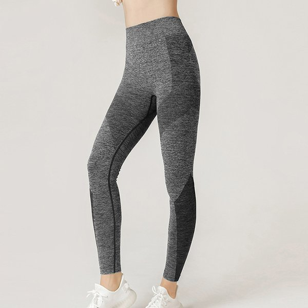best selling No Embarrassing Line Nude High Waist Seamless Yoga Pants Women's Sports Tight-fitting Running Yoga Clothes Hip-lifting Fitness Pants