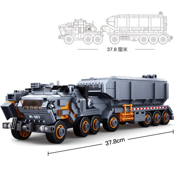 top popular 832pcs Wandering Earth Heavy Transport Vehicle Truck Building-block Toys Compatible with inglys DIY Christmas Gifts 2020