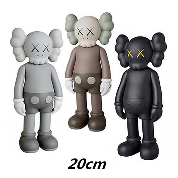 top popular HOT 20CM 8inches 0.2KG Originalfake KAWS prototype Companion Original Box KAWS Action Figure model decorations toys gift 2021