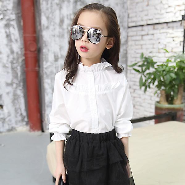 Белое рюша блузка