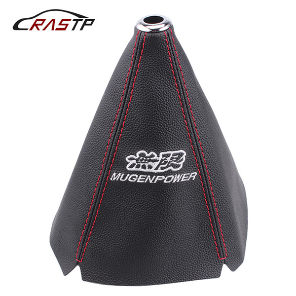 best selling Gear Shift Lever Knob Cover JDM Car Racing Leather Cloth Black Universal Shifter Boot Colllar Interior Accessories SFN073