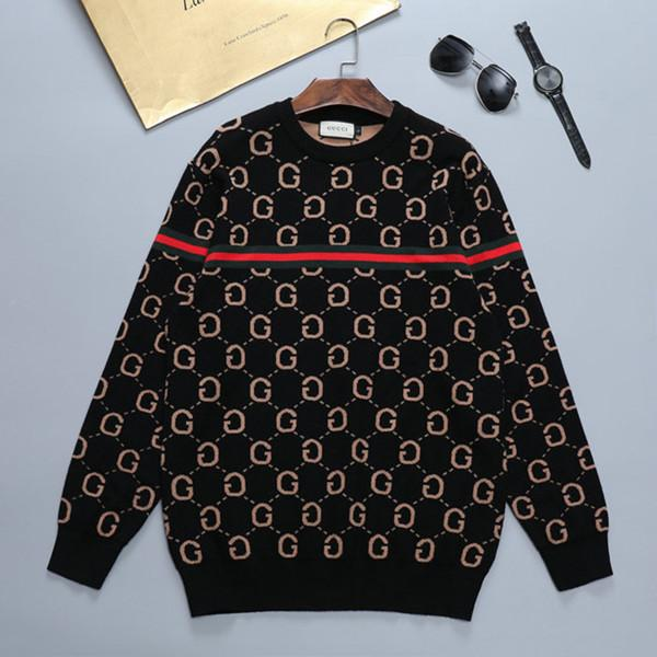 top popular 2020 new hot autumn men and women with the letter embroidery couple long-sleeved sweater with the same Bump Color women designer clothes 2020