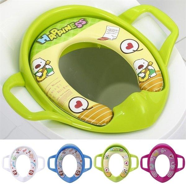 best selling Baby Kids Simple Leisure Interesting Portable Comfortable Infant Potty Toilet Training Children Seat Pedestal Cushion Pad Ring LJ201110