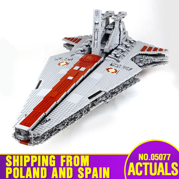 best selling DHL 05077 Star Toys Wars The UCS ST04 Star Republic Attack Cruiser Assembly Building Blocks Bricks Kids Christmas Toys Gifts 1008