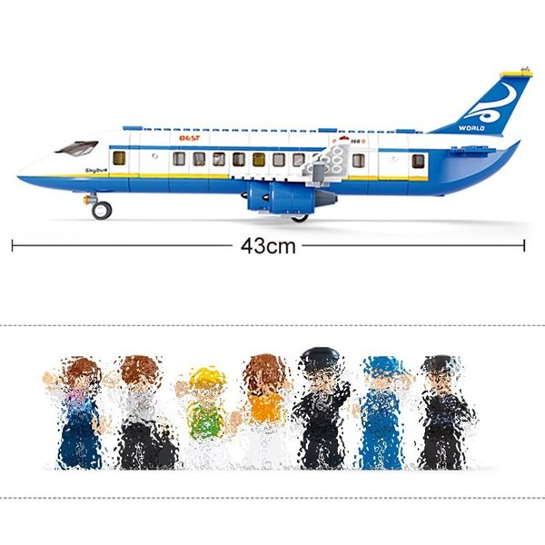 best selling 463pcs Air Plane Passenger Airport City Building-block Toys Compatible with inglys DIY Educating Children Christmas Gifts
