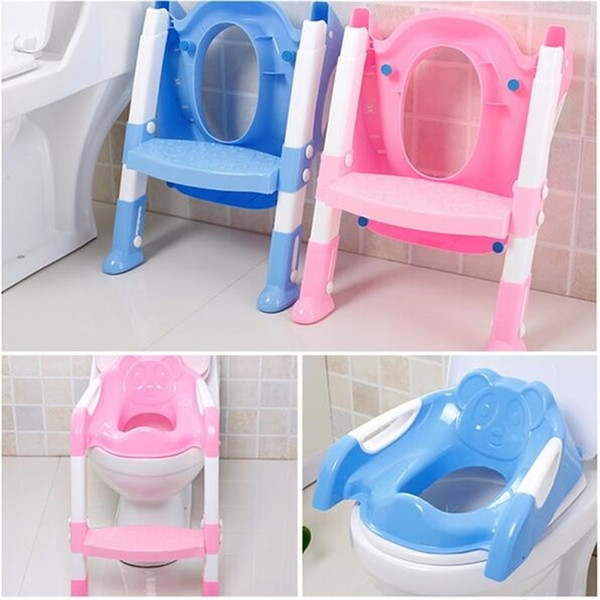 top popular New Baby Toddler Potty Toilet Trainer Safety Seat Chair Step with Adjustable Ladder Infant Toilet Training Non-slip Folding Seat LJ201110 2021